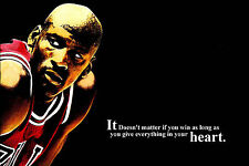 Michael Jordan Motivational Poster 60x90CM Art Silk Fabric Canvas Print 38