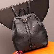 Women DrawstringTravel Leather Bag Rucksack Satchel Girl School Handbag Backpack