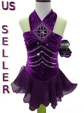 Figure Ice Skating Dance Twirling Baton S-Costume Dress Girls Small