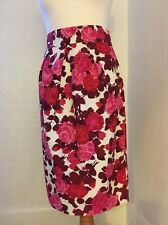 L K Bennett Rose Skirt Sz10 Linen And Silk