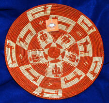 """Basket Finely Handwoven Collectible Decorative New Pakistan 14x2.5"""" #51"""