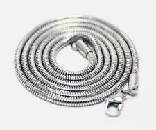 "Mens /womans 925 Silver Snake Chain Necklace 2mm round width 22"" inch great gift"