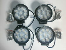 LED Work Lights x 4  27W 12V & 24V Off Road, Work Light, Reversing 1620 Lumens