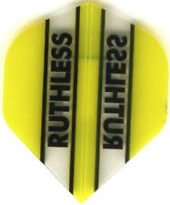YELLOW/CLEAR RUTHLESS Dart Flights: 3 per set