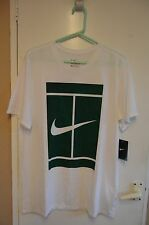 bnwt men's Nike Dri-fit athletic cut white/green tennis tshirt size L