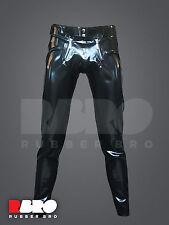 Mens latex rubber trousers pants with sailor zips 0,6 mm size S/M/L/XL