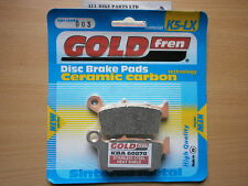 HONDA XR 100 (Disc model) MOTARD (OFF-ROAD) SINTERED REAR BRAKE PADS *GOLDFREN*