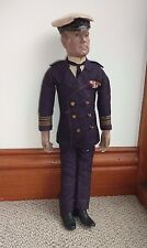 ANTIQUE COMPOSITION & CLOTH DOLL FIGURE ADMIRAL JELLICOE NAVY MILITARY WWI