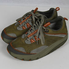MBT Fitness Sneaker Shoes Lace Up Green Orange Women Size 7.5 7 1/2 37 2/3 EUC