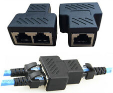 RJ45 Splitter Adapter 1 to 2 Dual Female Port CAT 5/CAT 6 LAN Ethernet