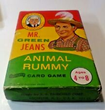VINTAGE Captain Kangaroo MR. GREEN JEANS Animal Rummy Card Game in Box