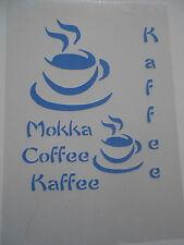 Schablone Stencil Kaffee für Textil Airbrush Wanddeko u.v.m auf A4
