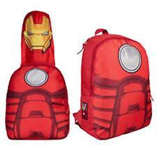 Marvel Ironman-Con Capucha Mochila-Road seguro-tamaño Aprox:28 x37x18cm