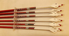 Carbon Express Maxima Red 350 Carbon Arrows w/Blazer Vanes Wraps 1 Dz.
