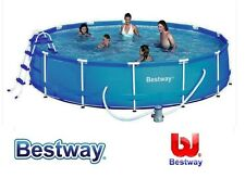PISCINA BESTWAY FUORITERRA TONDA ROTONDA 457X122H IN METALLO FULL OPTIONAL