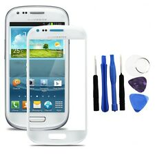 White Outer LCD Screen Glass for Samsung Galaxy S3 Mini GT i8190 +Adhesive+Tools