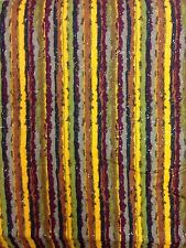 JOANN autumn colours stripey craft fabric gold glittery material browns material