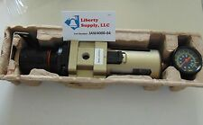 "NEW 3/4"" Compressed Air Filter/ Pressure Regulator combo W/gauge, bracket & nut"
