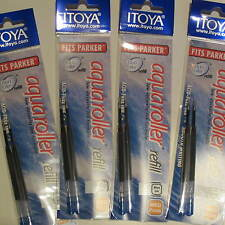 Set of 8 Itoya Aqua Roller Refill, 1.0mm, Blue (Itoya AQR10BU-BP) -4x 2/pk