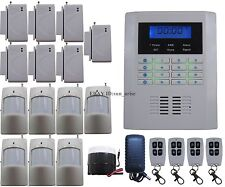 Q13 Quad-4-Bands GSM PSTN Wireless Home Security Alarm Burglar System SMS Call