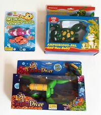 Lot of 3 Sets of Water Swimming Toys Scuba Diver, Frog, Fish