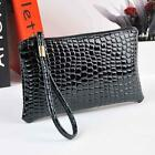 Women Crocodile Leather Clutch Handbag Messenger Makeup Bag Coin Purse Satchel
