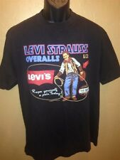 Vintage Levi Strauss & Co T-shirt Cowboy Western Two Horse Brand 2-sided 1993