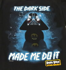 Star Wars Angry Birds The Dark Side Made Me Do It T-Shirt Youth Size 18