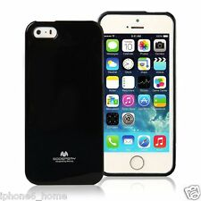 Genuine MERCURY Goospery Black Soft Jelly Case Cover Skin For iPhone 5/5s & SE