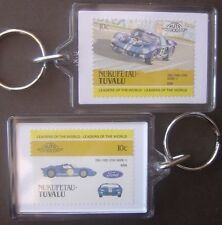 1966 FORD GT40 Mk.II (Le Mans) Car Stamp Keyring (Auto 100 Automobile)