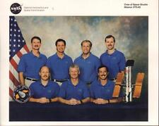 "OFFICIAL NASA 8 X 10"" CREW OF DISCOVERY (STS-82) LITHO VERY GOOD COND"