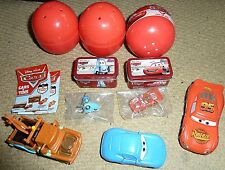 DISNEY PIXAR CARS MODEL FIGURES TOYS MINI KEYCHAIN TINS GACHA BALL BOX CAPSULE