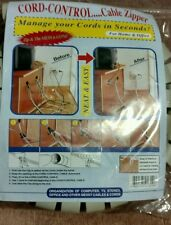 Cable Cord Wire Organizer Cable Zipper Sleeving Kit For Home and Office  NEW