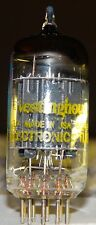Vintage Westinghouse 12au7 Ecc82 Tube Very Strong & Balanced Black Pts D-Getter