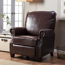 Barcalounger Ridley II Leather Recliner - Saddle
