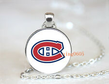 Montréal Canadiens hockey NHL Glass Cabochon Chain Pendant Necklace Fashion