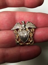 Nice WW2 Sterling Silver Navy Pin Name Of Boat Etched On Back 6g FREE SHIPPING