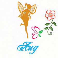 Magical Flower Fairy Faerie with Wand August Clear Cling Stamp Set