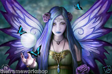 ANNE STOKES MYSTIC AURA FAIRY - 3D CULT FANTASY PICTURE 400mm x 300mm