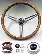 """1967-1968 Chevelle EL Camino SS WALNUT 15"""" Grant steering wheel"""