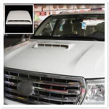 Universal Decorativo ingesta de flujo de aire toma Turbo Bonnet cubre Venteo Capucha más blanca
