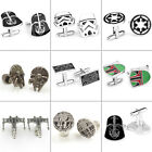 Star Wars Cufflinks Mens Jewelry Wedding Party Business Shirt Silver Cuff Links