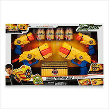 X SHOT BLASTER 4 PACK OUTDOOR SHOOTING GAME BEAKER GUN DARTS NERF STYLE NEW