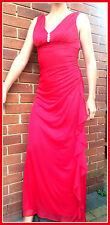 BNWT occasion UK10 BETSY&ADAM by Linda Bernell greek style Red maxi dress RP£129