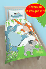 NEW THE JUNGLE BOOK MOWGLI SINGLE DUVET QUILT COVER BOYS GIRLS KIDS BEDROOM SET
