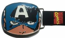 Marvel Comics Captain America Face Metal Enamel BELT BUCKLE
