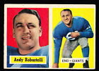 1957 TOPPS #71 ANDY ROBUSTELLI GIANTS HALL OF FAMER