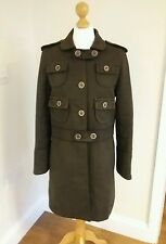 Marc Jacobs Ladies Khaki Military Style Coat. Size Large