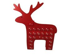 Gisela Graham Christmas Decoration - Red Scandi Reindeer Advent Calendar