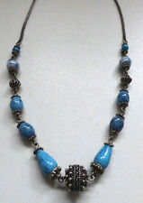 Vintage Art Deco Czech Venetian Mottled Glass Bead Necklace